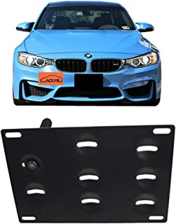 JGR No Drilling Tow Eye Front Bumper Tow Hole Hook License Plate Mount Bracket Holder Adapter Relocation Kit for BMW M3 2014-2018