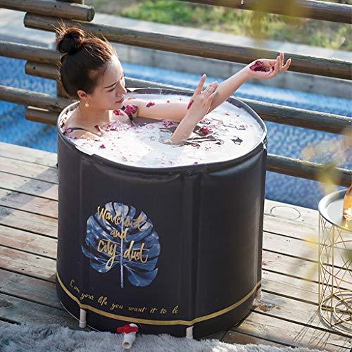 Massagebadewanne Große Erwachsene Tragbare Faltbare Badewanne Mit Kissen 65 * 70 cm Faltbare Duschbadewanne Freistehende Whirlpool-Badewannen Faltbare Einweichbadewanne