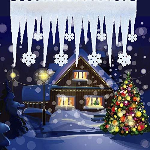 shoppingba Kerst benodigdheden Reparatie Gereedschap 2 Stks Kerstmis Schuim Ijs Strip Sneeuwvlok Kolom Ijs Sneeuw Scene Venster Decor Kerstmis Halloween Thanksgiving Pasen