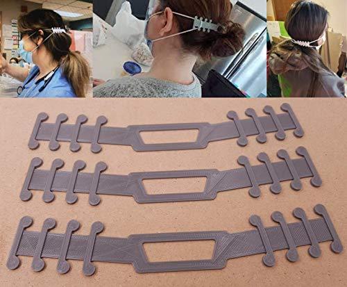 3 PEZZI - Prolunga regolabile per mascherina. Dispositivo salva orecchie compatibile con tutte le mascherine.