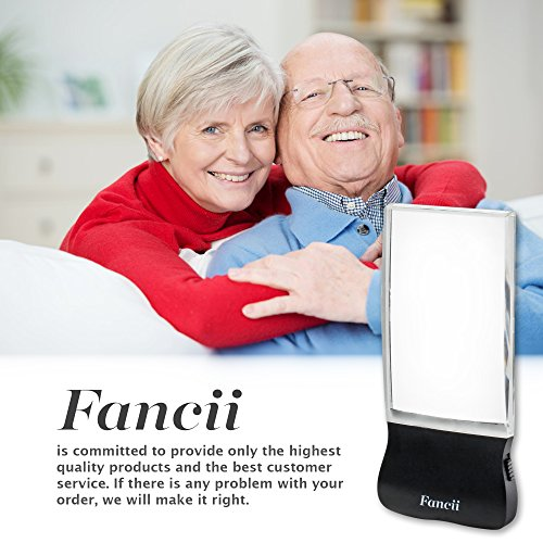 Fancii LED 2X großes rechteckiges Leselupe Handlupe mit Licht – 102 x 58 mm randlose unverzerrte Lupe mit Beleuchtung geeignet für Senioren, zum lesen von Büchern, Magazinen, Zeitungen und Landkarten - 7