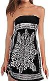 QegarTop Women Coverup Summer Strapless Beach Dress Swimwear Boho Bathing Covers Black...