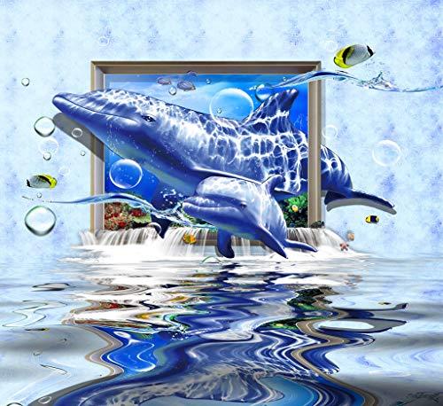 LIZELUO Mesa para Ordenador Portátil Delfín En El Marco Dormitorio Lazy Simple Plegable Mesa 60x40cm