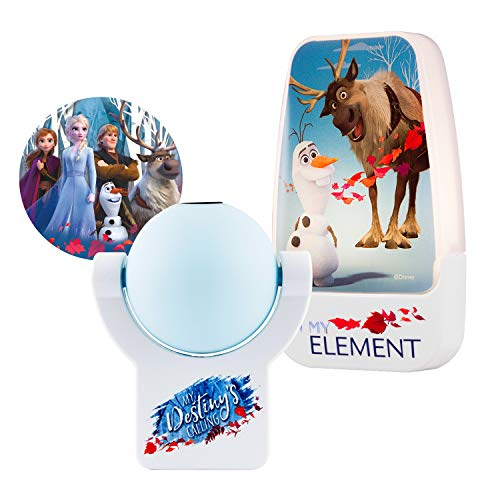Disney Frozen 2 LED Night Light + Projectables Frozen 2 Night Light, Collector's Edition, Dusk to Dawn Plug-in, UL-Listed, Ideal for Bedroom, Nursery, Bathroom