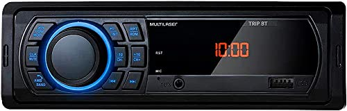 Som Automotivo Multilaser Trip BT MP3 4 x 25WRMS FM/USB/AUX - P3344, Preto e Azul