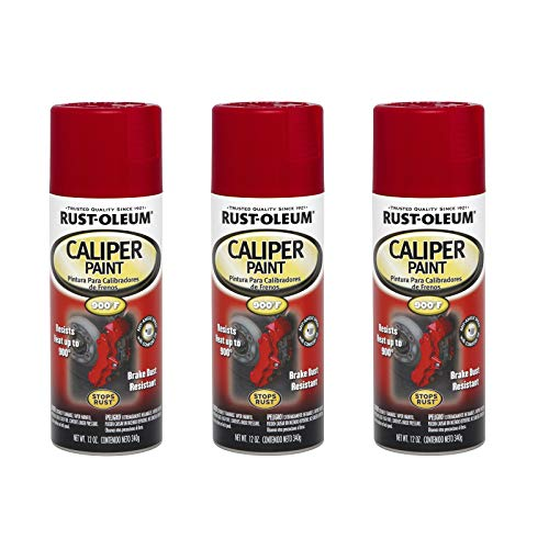 Rust-Oleum 251591A3 Automotive Caliper Spray Paint, 3 Pack, Red, 3 Count