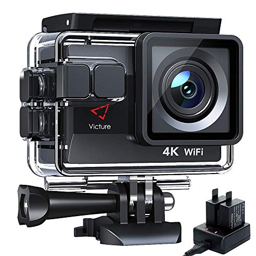 Victure AC800 Cámara Deportiva Wi-Fi 4K Ultra HD 20MP (Action Camera Acuatica de 40M con...