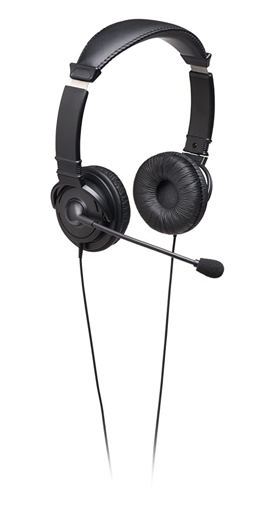 ペット危険にさらされているマルコポーロKensington Hi-Fi On-Ear Headphones with Mic and 9-Foot Cord (K33323WW) [並行輸入品]