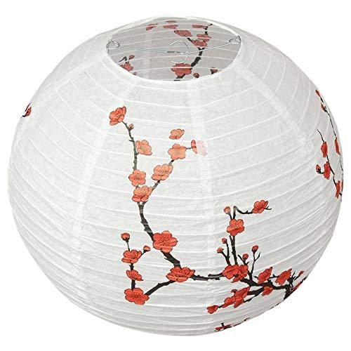 DUO ER Linterna de Papel, Lámpara de Estilo Oriental Shade Light Decoration Plum Blossom Pattern 30 cm