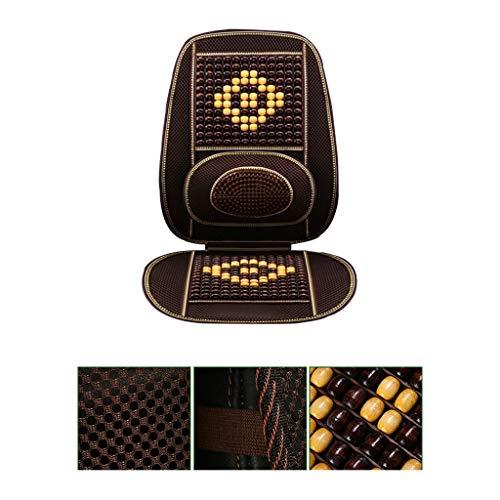 Cojín YJLJL asiento de coche universal con cuentas de masaje antideslizante de ventilación para asiento de coche es compatible con el 99% de los vehículos y fácil de instalar YJLJL