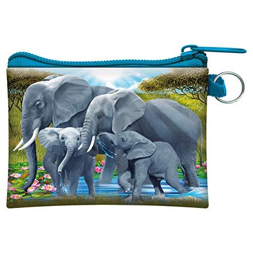 3D LiveLife Geldbörse Dickhäuter von Deluxebase. 3D-Elefantengeldbörse. Bargeld und Kartenhalter mit sicherem Reißverschluss mit Kunstwerken, lizenziert vom renommierten Michael Searle