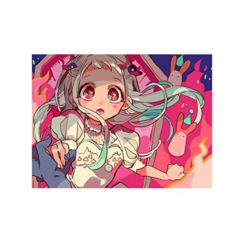 Elibeauty lunanana Toilet-Bound Hanako-kun Poster, Anime Wandrolle Nene Yashiro Hängende Gemälde Wanddekoration, 40x60cm(H09)