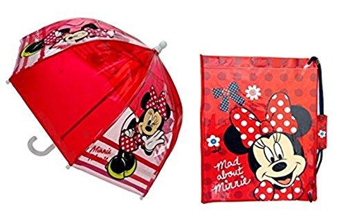 Minnie Maus Set Regenschirm DOME Schwimmen und Kit Bag
