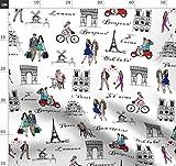 Skizzieren, Paris, Eiffelturm, Roller, Liebe Stoffe -