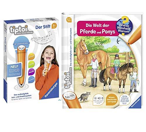 tiptoi Ravensburger 008018 Libro de banda 13 | Die Welt der Pferde und Ponys + lápiz Ravensburger 008018