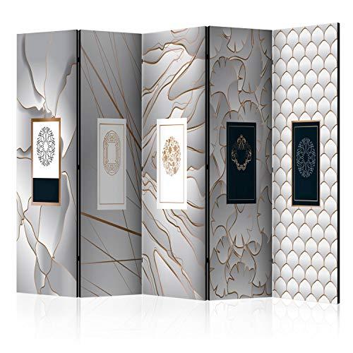 murando Raumteiler Foto Paravent Marmor 225x172 cm einseitig auf Vlies-Leinwand Bedruckt Trennwand Spanische Wand Sichtschutz Raumtrenner Home Office f-B-0244-z-c