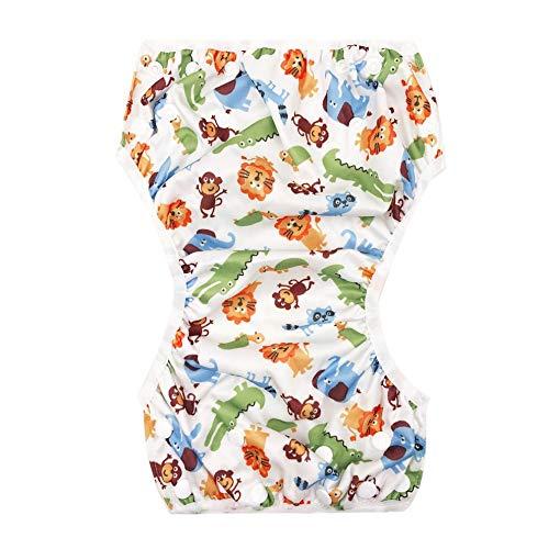 QiKun-Home Wasbare baby unisex verstelbare zwemluier zwembadbroek waterdicht herbruikbare baby training zwemluier badpak multi-color gemengd A50