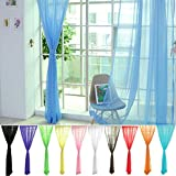 CAREONLINE Tulle Voile Curtains Lace Window Curtains Sheer Panels Blackout Curtains for Home Decorations Wedding Party 1 Pair 12 Colors