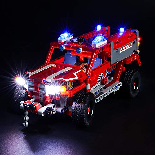 BRIKSMAX Led Lighting Kit for Technic First Responder - Compatible with Lego 42075 Building Blocks Model- Not Include The Lego Set