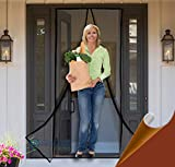 Reinforced Magnetic Screen Door - Many Sizes and Colors to Fit Your Door Exactly - US Military Approved - with Full...