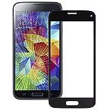 PANPAN Teléfono sustituir Parte Lente de Cristal Exterior de Pantalla Frontal Compatible for Samsung Galaxy S5 Mini Piezas de reparación (Color : Black)