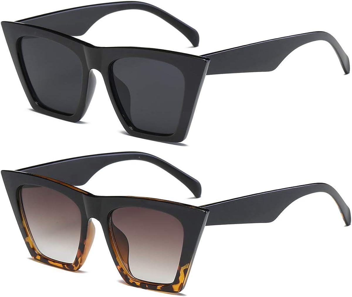 Square Cat Eye Sunglasses for Superior Oversize Women Ranking TOP17 Clas Cateye Fashion