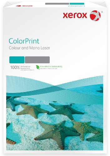 Xerox 003R95924 Premium Farblaser-Papier Druckerpapier DIN A4, 160 g/m², 250 Blatt pro Pack , weiß