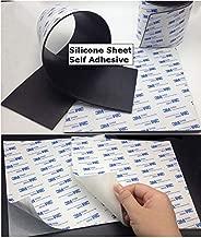FidgetGear 12X12 Black White Silicone Rubber Sheet Self Adhesive High Temp Plate Mat White 1mm Thickness