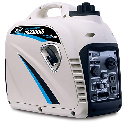 Pulsar 4,000W Portable Gas-Powered Quiet Inverter Generator with Remote Start & Parallel Capability,...