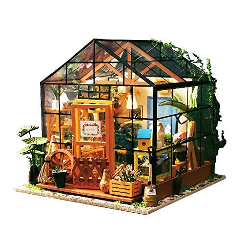 DIY Puppenhaus Miniatur mit Möbeln Holzzimmer Montage Kit Home Decoration Miniatur DIY Holz Puppenstuben-Kit für Kleinkinder bei Geschenkparties zum Weihnachtsgeburtstag