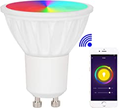BAOMING® WiFi GU10 Smart LED Spotlight,RGB+Warm White Dimmable 5W Bulb Remotely Controlled by Smartphone,4pcs