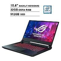 Asus ROG G531GT 15.6 Inch FHD 1080P Gaming Laptop, 9th Gen Intel 6-Core i7-9750H up to 4.50 GHz, NVIDIA GeForce GTX 1650, 32GB DDR4 RAM, 512GB SSD, Backlit KB, Windows 10, Black