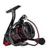 CPCシャピオン 2個釣りリール、軽量防水最大ドラッグ15キロ/速度比5.2:1つのスピニングリール、塩水/低音パイク釣り用