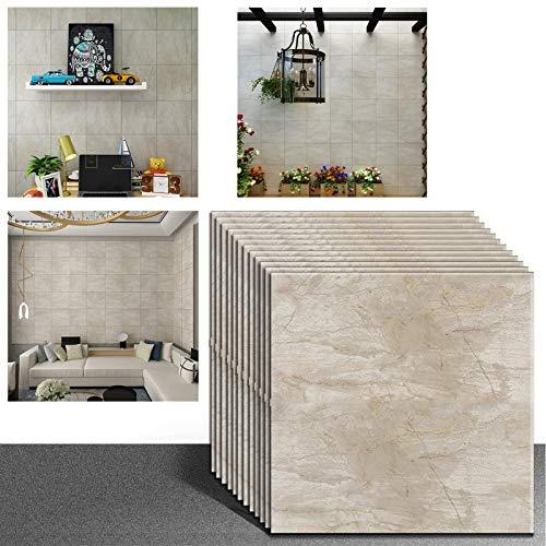 VEELIKE Pegatinas para azulejos de vinilo autoadhesivas, para cocina, dormitorio, sala de estar, 30 cm x 30 cm, 12 unidades
