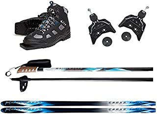 Whitewoods 75mm 3Pin Cross Country Ski Package; Boots, Bindings, Poles, Skis 207 cm (for Skiers 180 lbs. & Up)