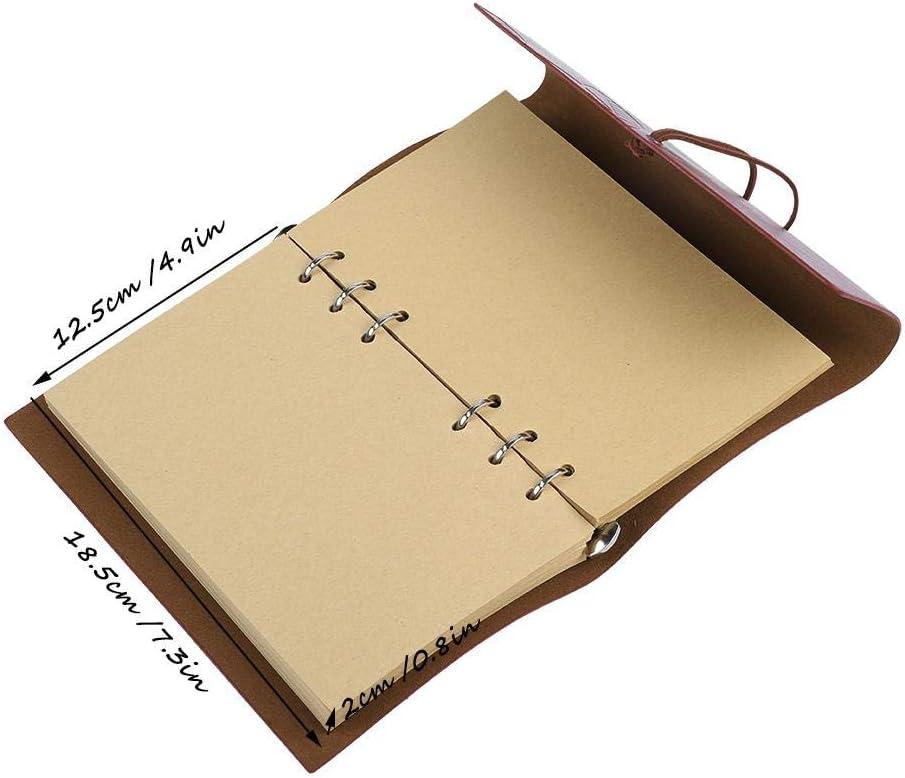 Kafuty Cuaderno de Cuero Retro con Pluma Estilogr/áfica Cuaderno//Pluma de Inmersi/ón Pluma//Botella de Tinta Creativo Negro Retro Conjunto de Papeler/ía sin Tinta