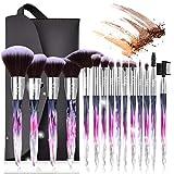 Subsky Pinceaux Maquillage Cosmétique Professionnel 15pcs Set/Kit Cosmétique Brush Beauté Maquillage Brosse Makeup Brushes Cosmétique Fondation avec Sac