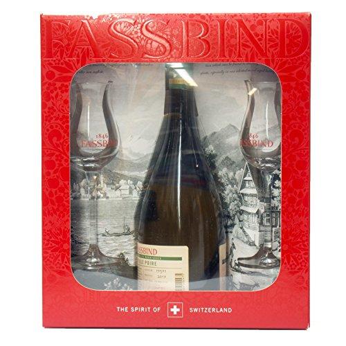 Fassbind Vieille Poire Barrique + GB mit 2 Gläsern (1 x 0,7l)