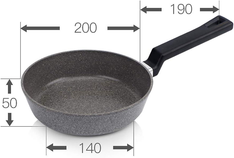 Sartén Antiadherente de cerámica sin Tapa, Revestimiento Antiadherente para Uso doméstico, sartén para cocinar de inducción con Menos Aceite y Caldera de Humo