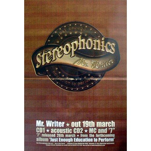 Stereophonics - Póster gigante, color blanco