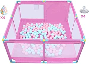 YLLSB-Baby fence Household Crawling Mat Ball Pool Toy Infant Play Fence  nbsp - Pink  color Size 128x128x66cm  B 128x128x66cm  Color Size 128x128x66cm