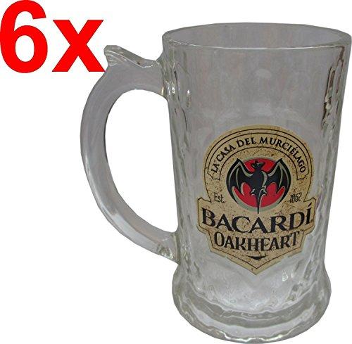 BACARDI OAKHEART humpen/bierglas/glazen krug/bierpul 35 cl