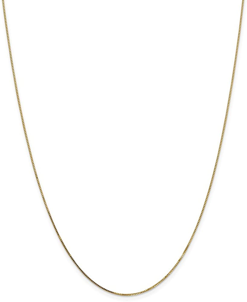 Elegant Solid 14k Yellow Gold New arrival Necklace .7mm Box Chain