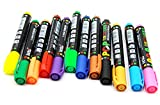 Oytra 12 White Board Marker Pens and Highlighter POP Paper Glass Writing Pen Marker