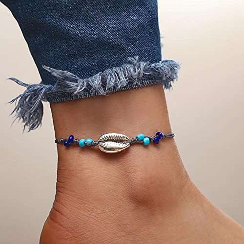YFZCLYZAXET Jewellery Bracelets Bangle For Womens Fashion Casual Bracelet Rope Anklet Ladies Foot Jewelry Beach Leg Bracelet Ankle Ladies-D