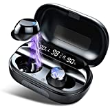 Wireless Headphones, Wireless Earbuds Headphones with Charging Case, Immersive Bass Sound, Single/Twin Mode