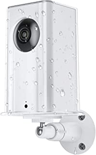 SEEKONE Wyze Cam Pan Protective Case with Metal Wall Mount Bracket, ABS Clear Material Cover Weather Proof Waterproof Anti-Sun Glare and UV Protection Adjustable for Indoor and Outdoor Use (Clear)