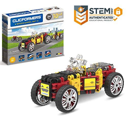 Clicformers Speed Wheel 34Pc, Rainbow Colors, Wheels, Construction STEM Toy Set Ages 4+ JungleDealsBlog.com