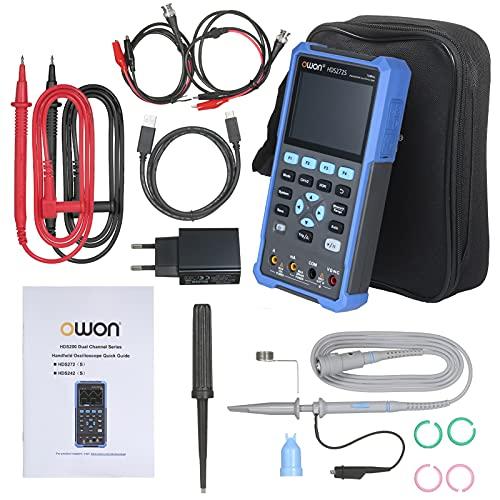 Oszilloskop-Multimeter - HDS272S 3 in 1 2CH 70MHz Handheld Digitales Oszilloskop Wellenformgenerator-Multimeter(EU)