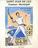 Saint Jean de Luz Baskische Fronton Poster, Reproduktion,
